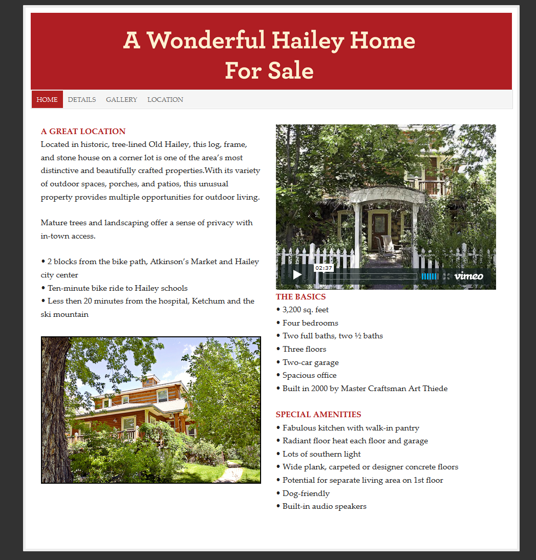 Hailey Home – Real Estate